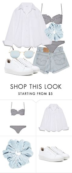 """""""Untitled #21709"""" by florencia95 ❤ liked on Polyvore featuring Levi's, Eytys and Ray-Ban"""