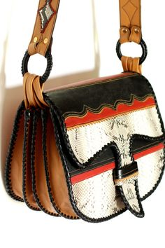 PAISA CARRIEL / a classic satchel style in an exotic by yoluyolu, $590.00