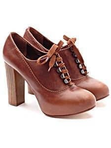 Chloe lace-up Oxford heels