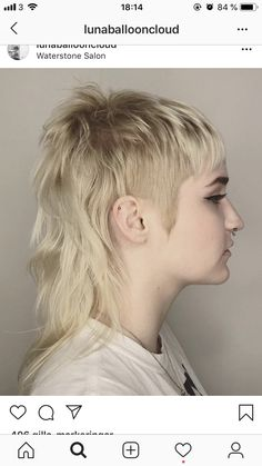 Mullet Haircut, Mullet Hairstyle, Rat Tail Haircut, Mohawk Mullet, Funky Hairstyles, Pretty Hairstyles, Hair Inspo, Hair Inspiration, Modern Mullet