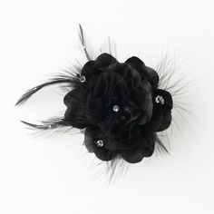 Suravi Black Feather Fascinator Headpiece Wedding Bridal Special Occasion Hair Comb >>> Read more  at the image link.