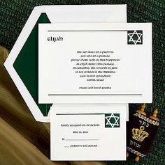 Simple Star Bar Mitzvah Invitation.
