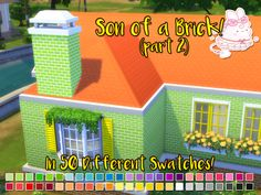Son of a Brick pt. 2 / Part 2 of my 300 Followers Gift.The second I made part one, I knew a part 2 would happen. What we have here is a full wall and a chimney to match the half wall and foundation in the previous set. I'll still probably add onto...