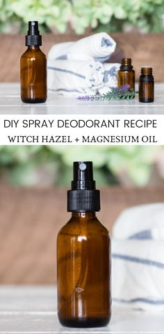 DIY Spray Deodorant Learn how to make this simple diy deodorant spray! Homemade deodorant spray that really works. All-natural deodorant made with witch hazel magnesium oil and essential oils. Diy Deodorant, Diy Natural Deodorant, Natural Dry Shampoo, Honey Shampoo, Deodorant Recipes, Shampoo Bar, Hair Shampoo, Baking Soda For Dandruff, Baking Soda For Hair