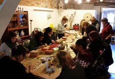 Las Casitas de Papel: Fotos taller Caja Navidad