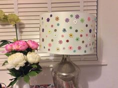 Flower and shimmer lamp by DizzyfairyBySarah on Etsy