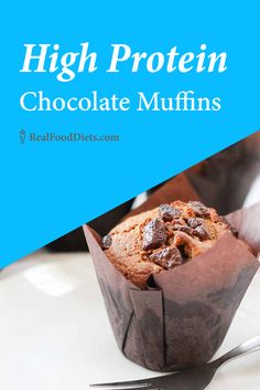 A healthy breakfast option, perfect for on the go. These high protein chocolate muffins are easily adaptable and easy to make. These paleo muffins are gluten free, grain free, and refined sugar free too! @realfooddiets