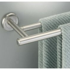Gallery One BATHROOM brushed nickel bath towel rack Spa Style Towel Racks Pedestal Towel Racks