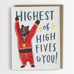 Highest of High Fives Congratulations Card by emilymcdowelldraws, $4.50