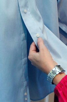 Adapted: magnetic buttons, looks the same as a typical button shirt style, assists with independent dressing