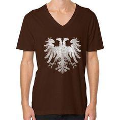 Holy Roman Empire Eagle V-Neck (on man)