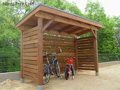 Would like to know about backyard shed plans? Then this is definitely the right place! Outdoor Bike Storage, Bbq Shed, Bike Shelter, Range Velo, Cheap Sheds, Pool Remodel, Diy Shed Plans, Backyard Patio Designs, Shed Homes