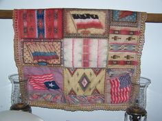 Large Handmade Quilted Euro Pillowcase Americana by GandTVintage