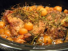 Crock Pot Rosemary Pork Roast