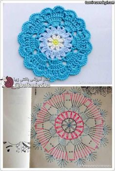 Ideas for crochet patrones ganchillo carpetas Crochet Coaster Pattern, Crochet Mandala Pattern, Crochet Circles, Crochet Motifs, Crochet Flower Patterns, Crochet Diagram, Crochet Chart, Crochet Squares, Crochet Granny