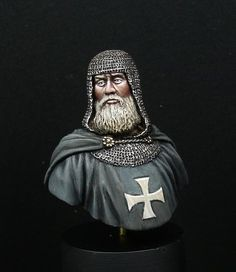 Knight Hospitaller by brian snaddon · Putty&Paint Knights Hospitaller, Knights Templar, Kingdom Of Jerusalem, Military Orders, Medieval Knight, Plastic Models, Catholic, 1, Fantasy