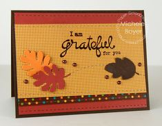 Card by PS DT Michele Boyer using PS Stitched, Large Leaves, Blossoming Buds