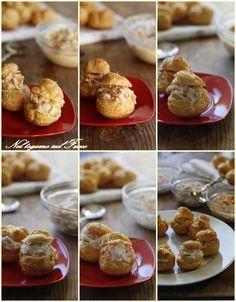 IDEE PER FARCIRE I BIGNE' SALTI tante farciture con crostacei, pesce, carne e verdure. Perfetti nei giorni di festa!  #bignè #antipasti