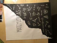 School Notebooks, Math Notebooks, Notebook Art, Notebook Covers, Bullet Journal School, Bullet Journal Ideas Pages, Math Projects, School Projects, Project Cover Page