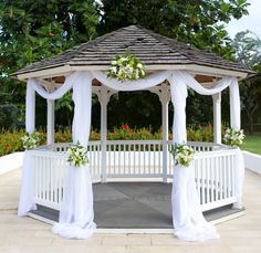 Wedding Gazebo Set Up Burgundy Cloth Instead Of The White And Sunflowers With