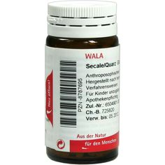 SECALE QUARZ Globuli:   Packungsinhalt: 20 g Globuli PZN: 08787695 Hersteller: WALA Heilmittel GmbH Preis: 5,99 EUR inkl. 19 % MwSt.…