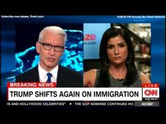 Dana Loesch speaking to Anderson Cooper about Donald Trump on Immigratio...