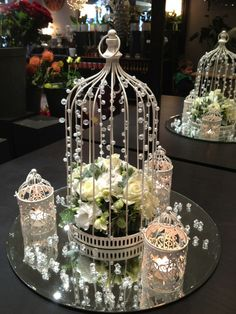 wedding table decorations ideas birdcage - Google Search