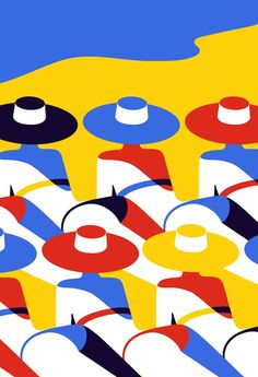 "Malika Favre is a French illustrator and art director based in East London. Her bold, minimal style ""Pop Art meets OpArt"" uses postive/ negative space and colour. http://malikafavre.com/"