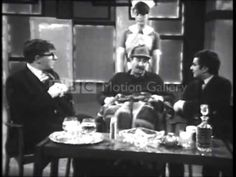 "Peter Cook, Dudley Moore, Peter Sellers ""The Gourmets"" Sketch from Not O. Peter Sellers on good form here. Comedy Series, Comedy Tv, Peter Cook, Comedy Clips, Classic Comedies, Seriously Funny, Stand Up Comedy, Old Movies, Funny People"