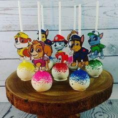 Paw Patrol themed cake pops!!!! Made by Sweetthings Cupcakery