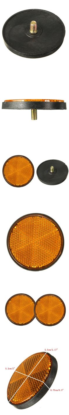 2 x 2'' Round Orange Reflectors For Motorcycles ATV Bikes Dirt Bikes Universal