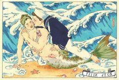Homosexual merboy + sailor (no idea who made this)