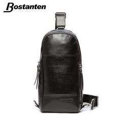 Bostanten 2015 Men's Chest Cowhide Genuine Leather Pack Korean Casual First Layer Cow Leather Messenger Bag Large Capacity Bags