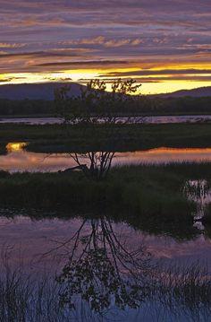 ✮ Sunset skies over the Nerepis Marsh - New Brunswick, Canada