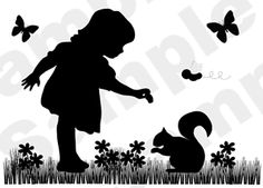 little girl silhouette - Google'da Ara
