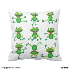 Frogs pillow