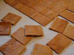 Gluten Free Crackers Recipe - Gluten Free Living - almond meal, coconut flour, eggs, salt and herbs