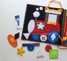Quiet Book Page, Busy Book Page, Toddler or Preschooler Activity Book, Fine Motor, Toy Train, Felt Toy, Circus, Toddler Quiet Activity Book