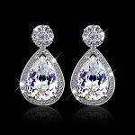 Buy Mother's Day Gift Accessories Drop Earrings Luxury Cubic Zirconia Fashion Wedding Silver Long Earrings For Women at Wish - Shopping Made Fun Prom Earrings, Cheap Earrings, Wedding Earrings, Wedding Jewelry, Silver Earrings, Crystal Fashion, Gold Fashion, Fashion Earrings Online, Fashion Jewelry