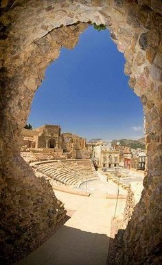 Totaly Outdoors: Ancient Roman Theatre in Cartagena, Spain