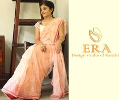 Pink net saree with pearl and beads work all over the body  ------ Designer sarees by kanchi signature collection  ----- To place an order-  WhatsApp us at : 09880859041 Email - kanchi.signature@gmail.com  ---- #saree #netsaree #pinksaree #beadswork #pearlwork #indiansaree #erabykanchi #kanchisignaturecollection #indianfashion #classy