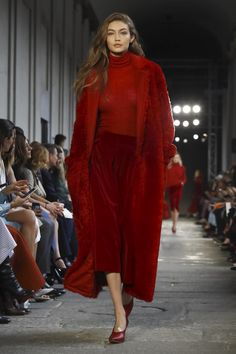 Gigi Hadid walks the runway at the Max Mara show during Milan Fashion Week Fall/Winter 2017/18 on February 23, 2017 in Milan, Italy.