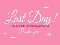 Today is the last day to order from Kaitlyns Party. Any order will help Kaitlyn reach her goal.  #LastDayToOrder #Younique #LipsnLashesbyAprilLynn www.youniqueproducts.com/LipsnLashesbyAprilLynn/party/5291189/view