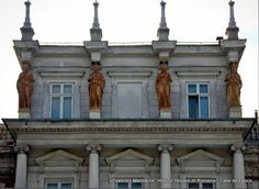 Terracotta caryatides on top of Stirbey Palace, neo-Renaissance style (Palladian inspiration), dating from the mid c19th, Bucharest (©Valentin Mandache)