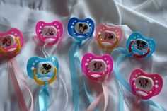 Don't Say Baby Baby Shower Game; Minnie Mouse Pacifier Favors/New Mom Gift; Girls Minnie Mouse Shower by on Etsy Baby Shower Games Unique, Baby Shower Favors, Baby Shower Themes, Unique Baby, Mickey Mouse Baby Shower, Minnie Mouse Party, Mouse Parties, Dont Say Baby Game, Gifts For New Moms
