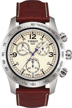 Tissot T-SPORT V8 Chronograph Brown Leather - T36.1.316.72