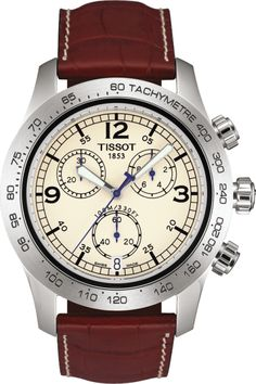 Tissot T-SPORT V8 Chronograph Brown Leather - T36.1.316.72