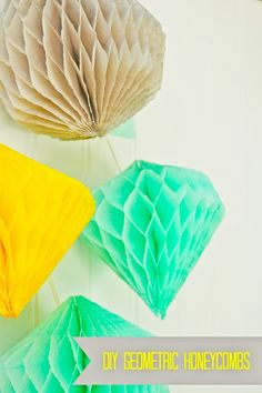 Party Crafters Guest Feature: Geometric Honeycombs - sweet lulu