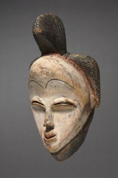 Mask, c. 1935 Equatorial Africa, Gabon, 20th century wood, Overall - h:38.20 cm