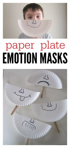 Plate Emotion Masks So simple it's brilliant. Talk about feelings and make these emotion masks at preschool.So simple it's brilliant. Talk about feelings and make these emotion masks at preschool. Emotions Preschool, Emotions Activities, Teaching Emotions, Preschool Behavior, Respect Activities, Kids Behavior, Teaching Kids, Social Emotional Activities, Social Emotional Development